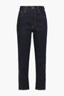 CURRENT/ELLIOTT The Vintage cropped high-rise slim-leg jeans