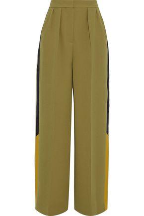 ROKSANDA Esca satin-trimmed crepe wide-leg pants