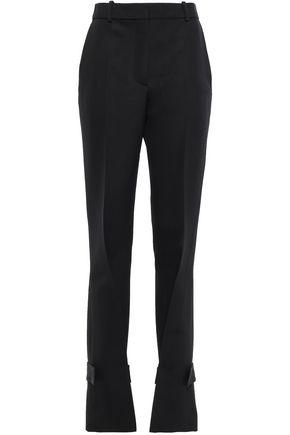 VICTORIA BECKHAM Wool-twill straight-leg pants
