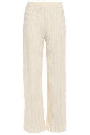 M MISSONI Ribbed-knit wide-leg pants