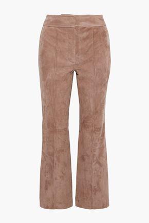 JOSEPH Ridge cropped suede flared pants