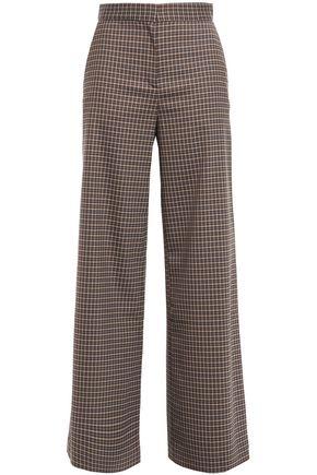 HOUSE OF DAGMAR Checked woven wide-leg pants