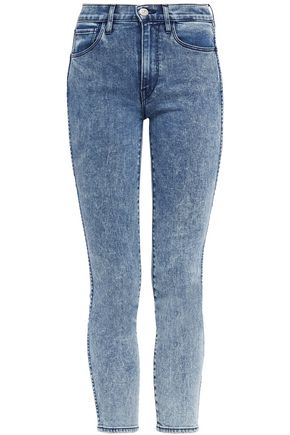 3x1 Cropped high-rise skinny jeans