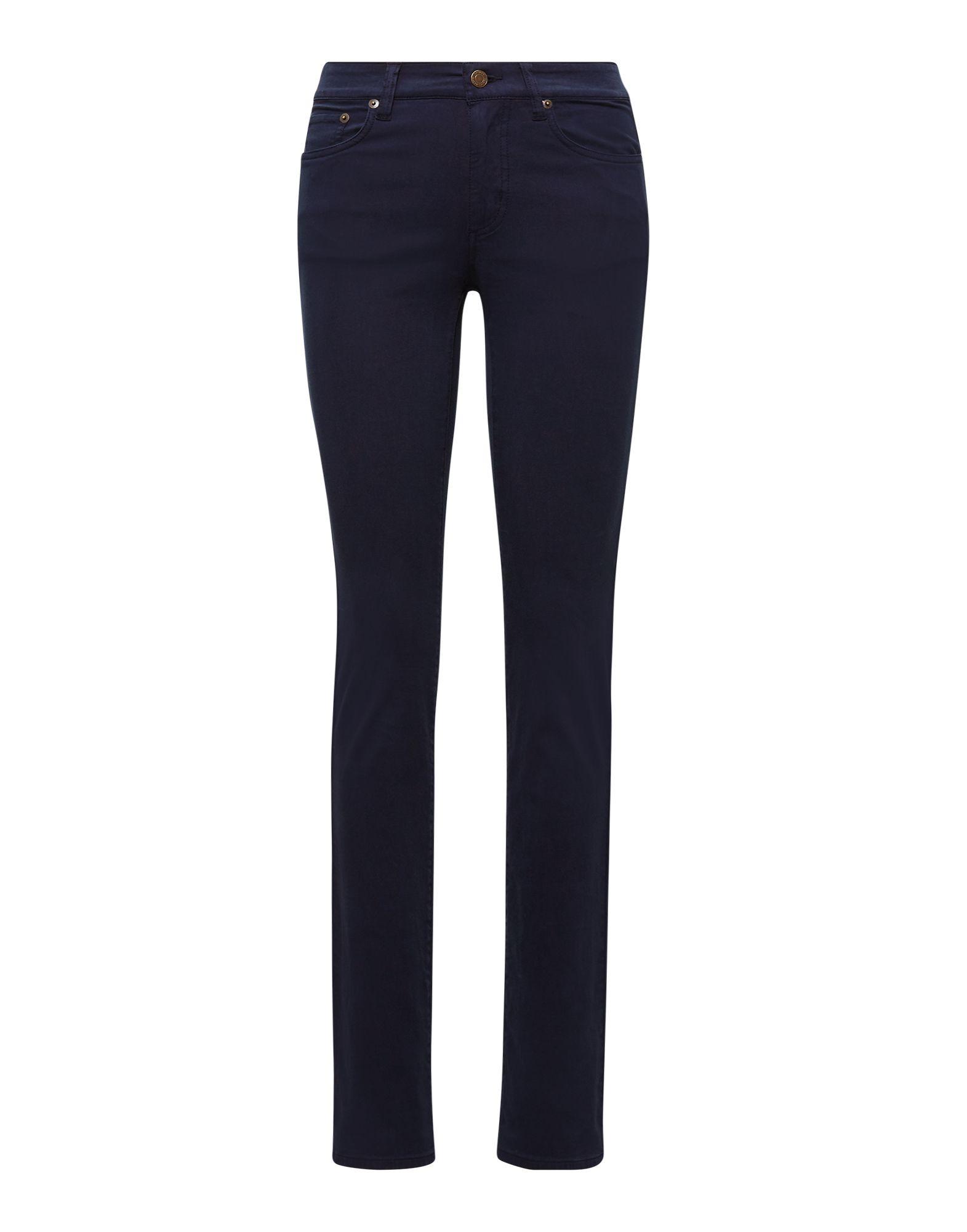 《セール開催中》LAUREN RALPH LAUREN レディース パンツ ダークブルー 4 コットン 56% / 指定外繊維(テンセル)? 42% / ポリウレタン 2% STRAIGHT LEG WASHED SATEEN PANT