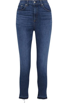 RAG & BONE The High Rise Ankle Skinny high-rise skinny jeans