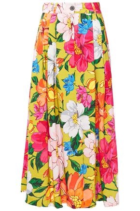 MARA HOFFMAN Tulay pleated floral-print woven maxi skirt