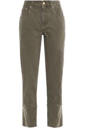 BRUNELLO CUCINELLI Bead-embellished mid-rise straight-leg jeans