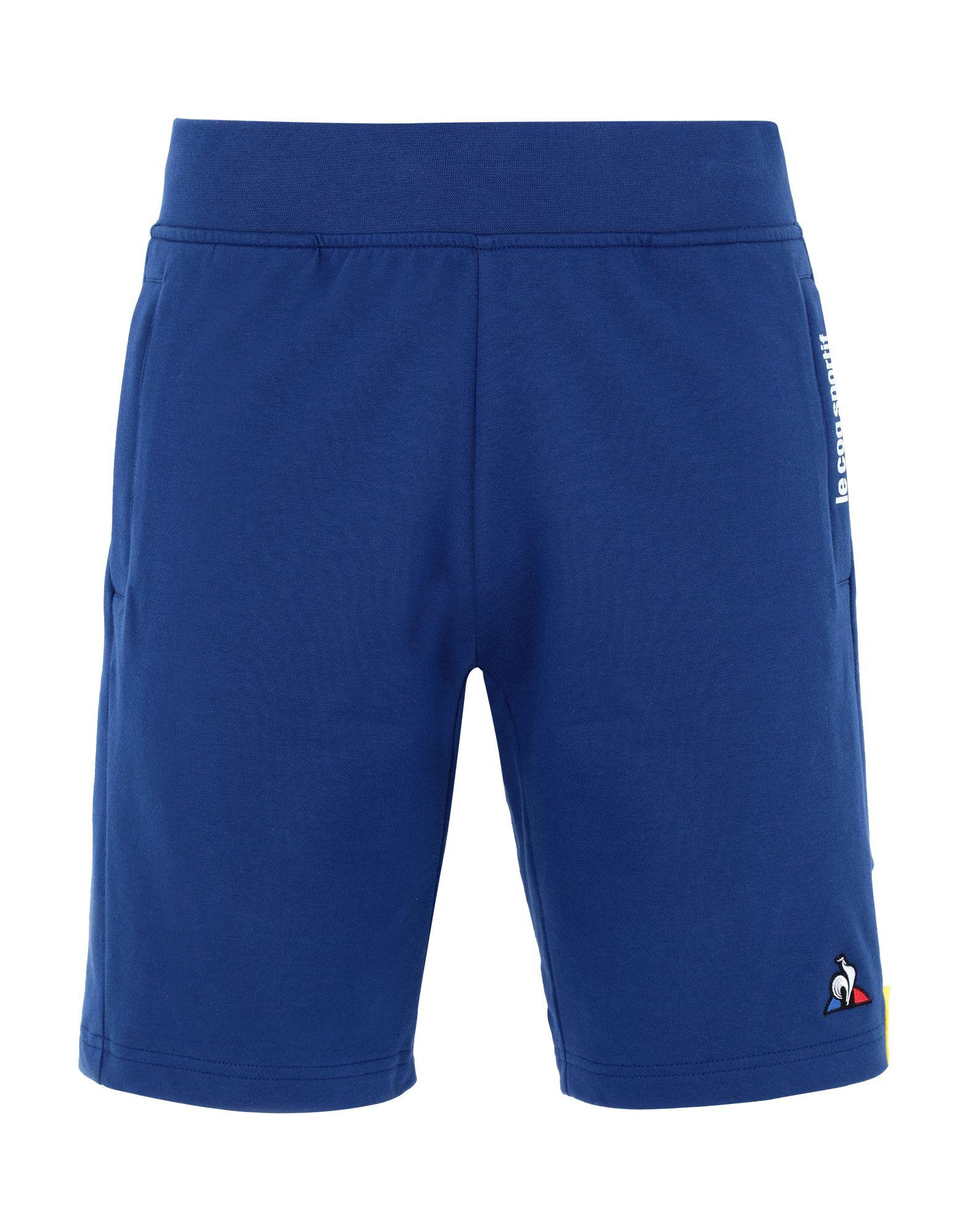 《セール開催中》LE COQ SPORTIF メンズ バミューダパンツ ブルー S コットン 100% ESS SAISON Short N°1