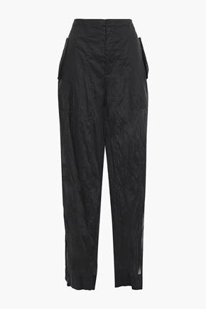 JIL SANDER Cotton-organza wide-leg pants