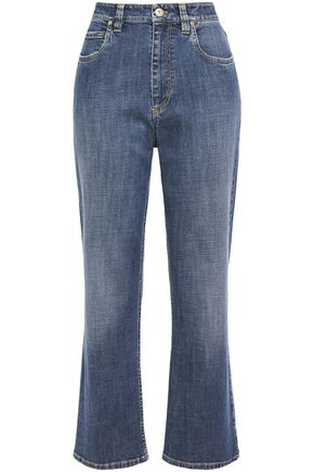 BRUNELLO CUCINELLI Faded high-rise kick flare jeans
