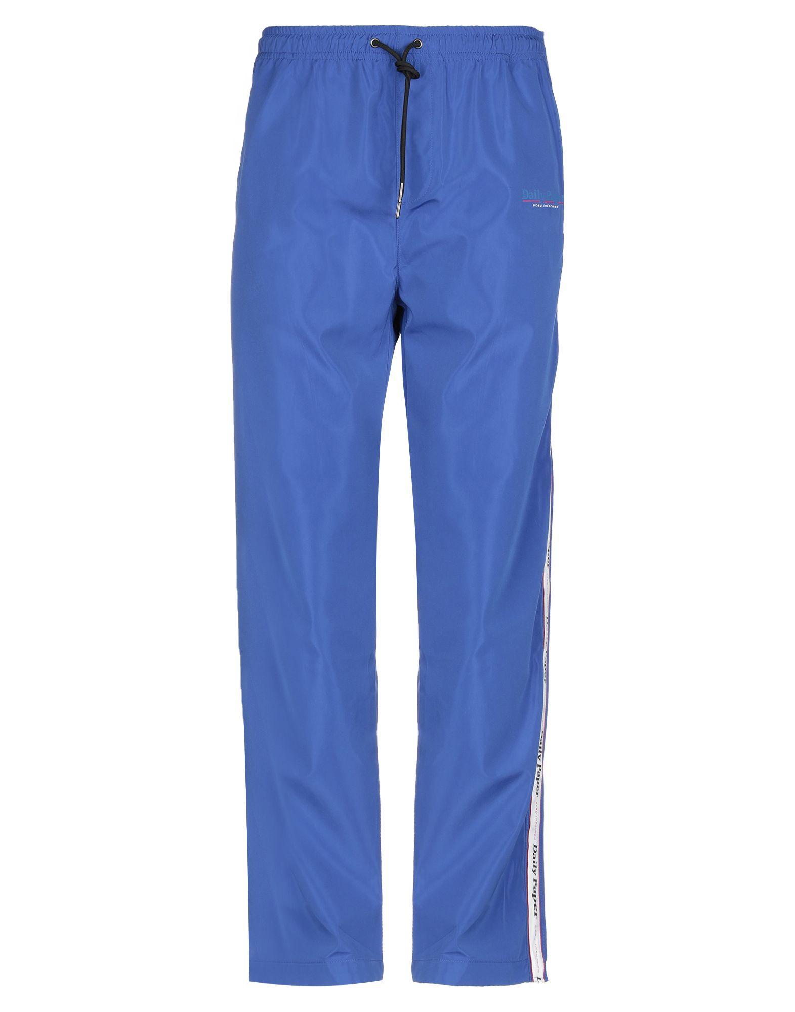 《セール開催中》DAILY PAPER メンズ パンツ ブルー XL ポリエステル 100%