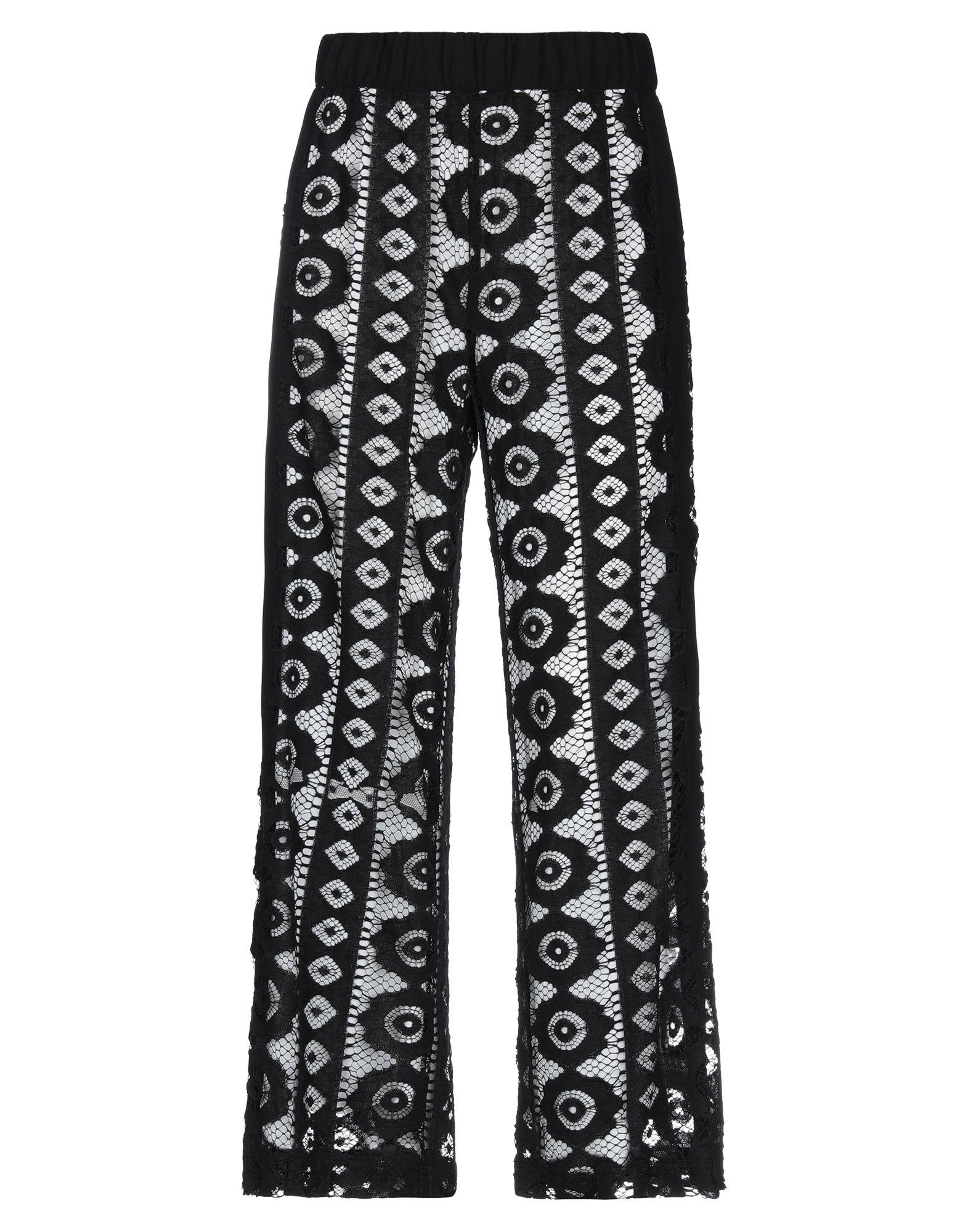 《セール開催中》BIANCOGHIACCIO レディース パンツ ブラック S 紡績繊維