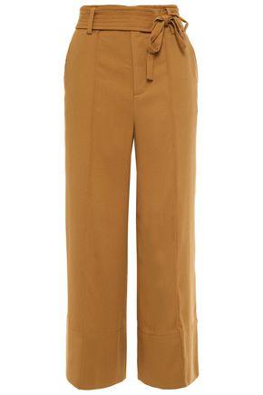 JOIE Djuna cropped belted crepe wide-leg pants