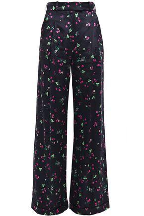 RACIL Mama floral-print satin-twill wide-leg pants