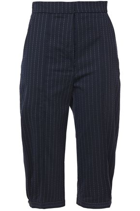 RACIL Carrie cropped pinstriped stretch-wool straight-leg pants