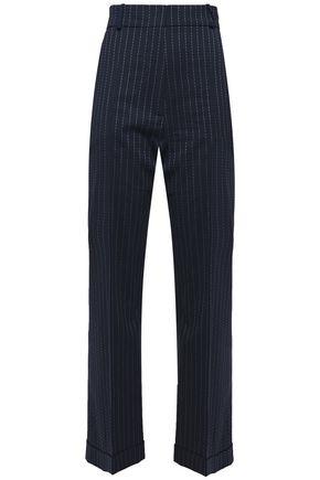 RACIL Pinstriped stretch-wool straight-leg pants