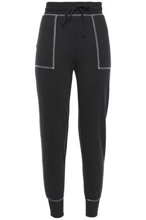JOIE Metallic-trimmed jersey track pants