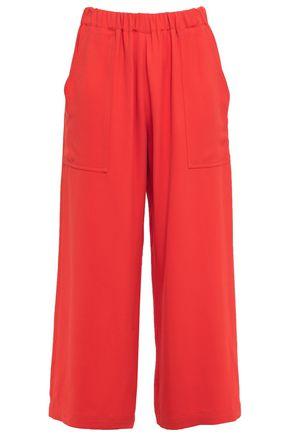 VANESSA BRUNO Lyor cropped gathered crepe wide-leg pants