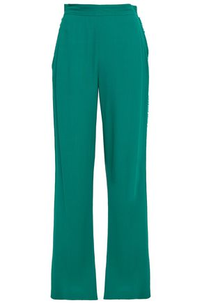 VANESSA BRUNO Frayed crepe wide-leg pants