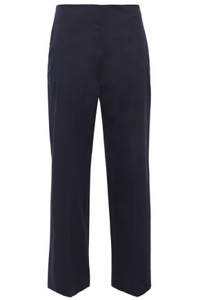 THEORY Cotton-blend twill wide-leg pants