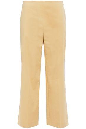 THEORY Cotton-blend twill straight-leg pants