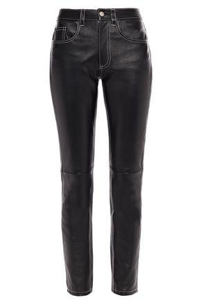 MM6 MAISON MARGIELA Leather slim-leg pants