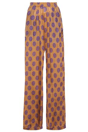 MM6 MAISON MARGIELA Printed silk wide-leg pants
