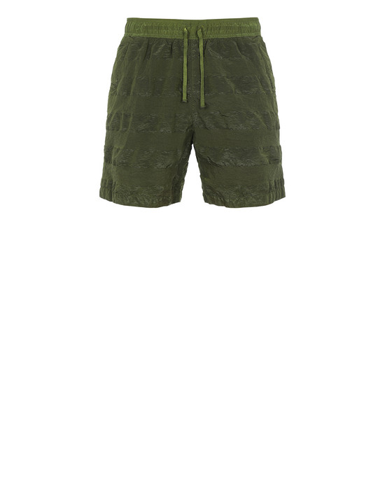 STONE ISLAND SHADOW PROJECT B0316 STRIPED TRUNKS SHADOW PROJECT SWIM SHORTS Man Olive Green