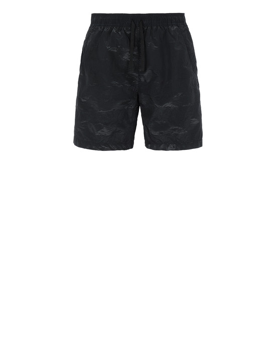 STONE ISLAND SHADOW PROJECT B0316 STRIPED TRUNKS SHADOW PROJECT SWIM SHORTS Man Black