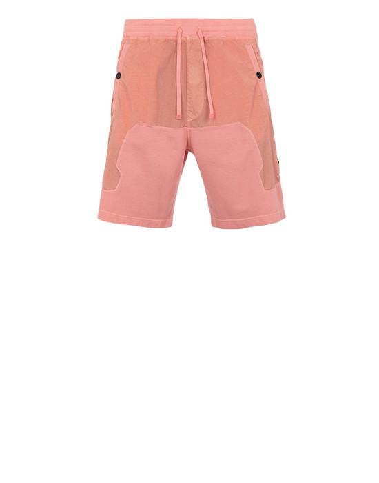 STONE ISLAND SHADOW PROJECT 60307 COMPACT SHORTS SHADOW PROJECT BERMUDA SHORTS Man Salmon pink