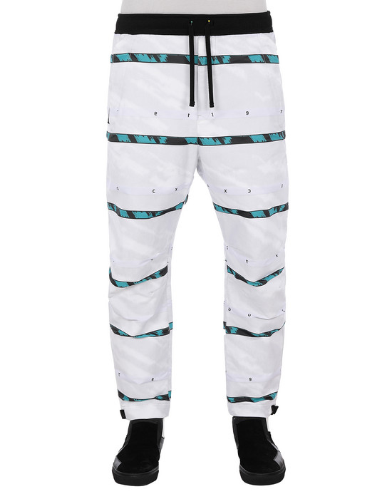 STONE ISLAND SHADOW PROJECT 30312 SWEAT PANTS TROUSERS Man White