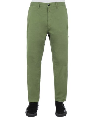 STONE ISLAND SHADOW PROJECT 30509 CHINO PANTS TROUSERS Man Olive Green USD 270