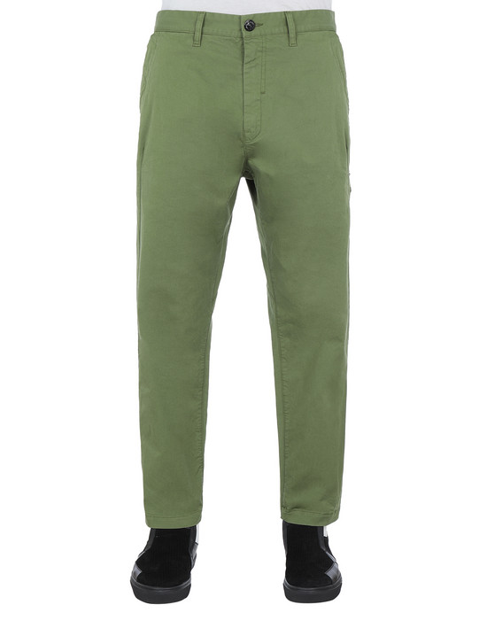 STONE ISLAND SHADOW PROJECT 30509 CHINO PANTS TROUSERS Man Olive Green