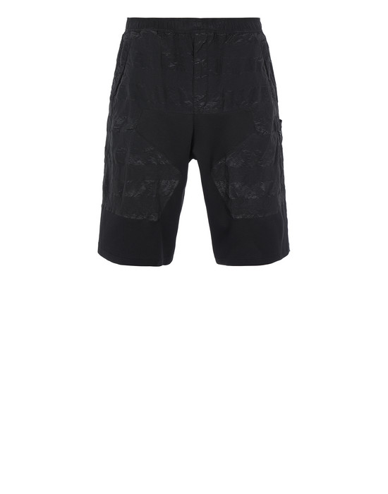 STONE ISLAND SHADOW PROJECT L0201 STRIPED BERMUDAS SHADOW PROJECT BERMUDA SHORTS Man Black