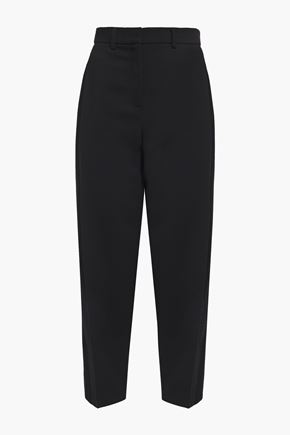 AKRIS Cropped wool-twill tapered pants