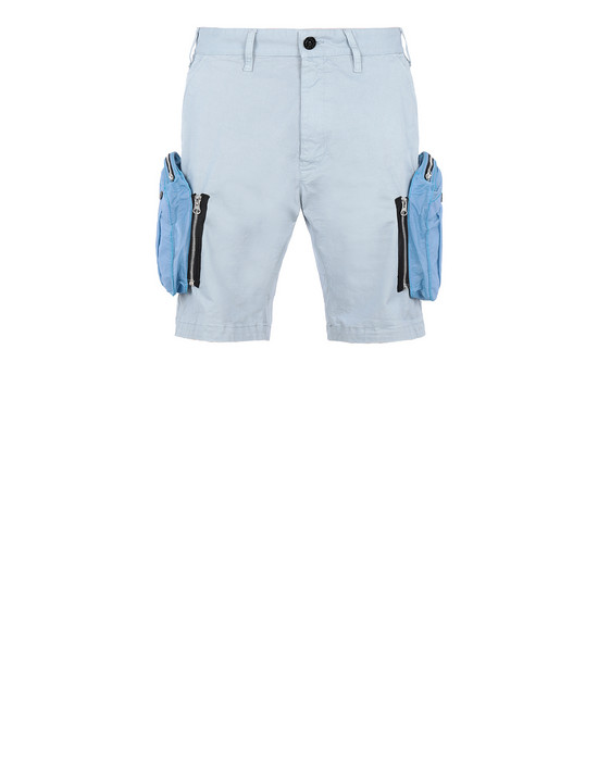STONE ISLAND SHADOW PROJECT L0109 CONVERT CARGO SHORTS SHADOW PROJECT BERMUDA SHORTS Man Pearl Gray