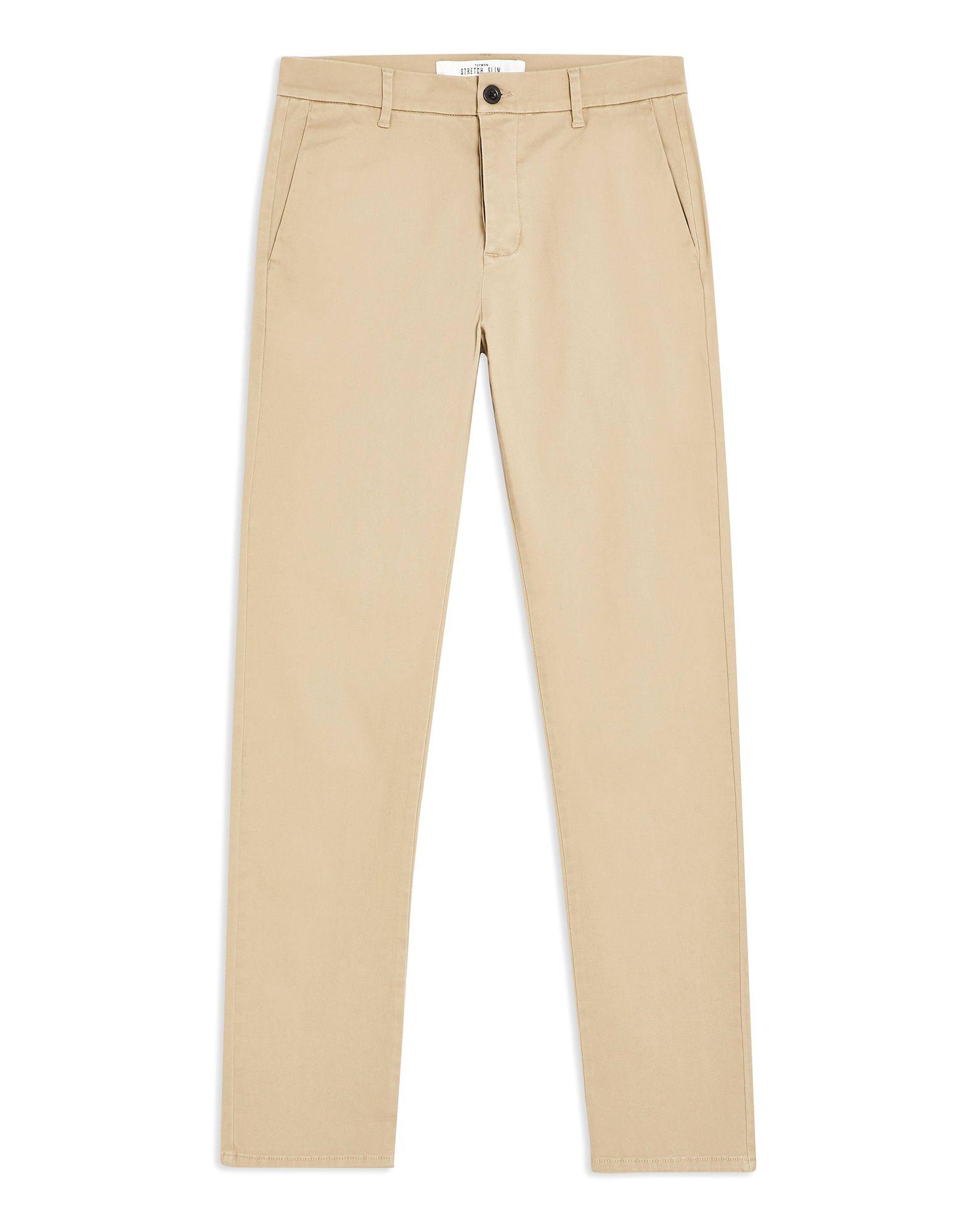 《セール開催中》TOPMAN メンズ パンツ ベージュ 30W-32L コットン 98% / ポリウレタン 2% STONE SLIM ESSENTIAL CHINOS