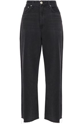 RAG & BONE Ruth frayed high-rise wide-leg jeans