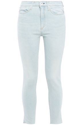 RAG & BONE Nina frayed high-rise skinny jeans