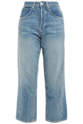 RAG & BONE Maya faded high-rise straight-leg jeans