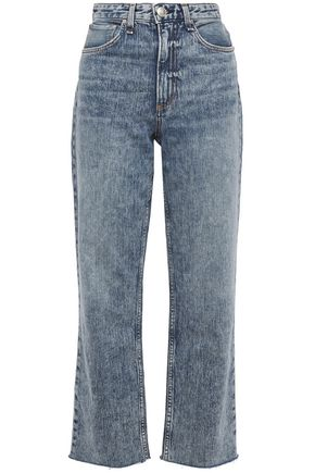 RAG & BONE Ruth faded high-rise straight-leg jeans