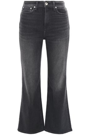 RAG & BONE Nina distressed high-rise kick-flare jeans