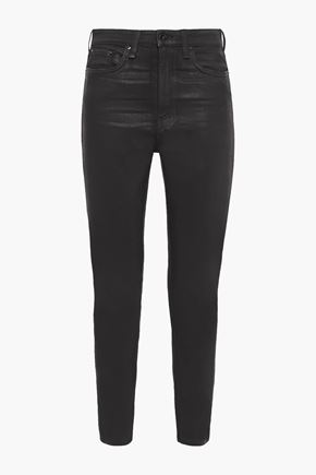 RAG & BONE Nina cropped coated high-rise skinny jeans