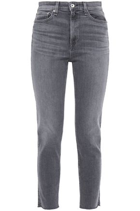 RAG & BONE Nina cropped faded high-rise slim-leg jeans