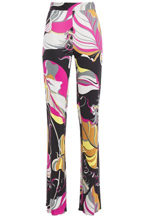 EMILIO PUCCI Printed jersey straight-leg pants