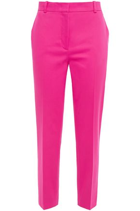 EMILIO PUCCI Cropped cotton-blend twill slim-leg pants