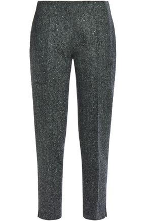 ANTONIO BERARDI Cropped wool-tweed slim-leg pants