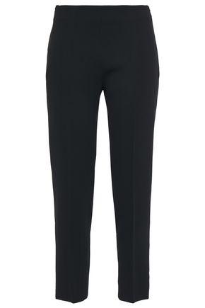 ANTONIO BERARDI Cropped crepe slim-leg pants