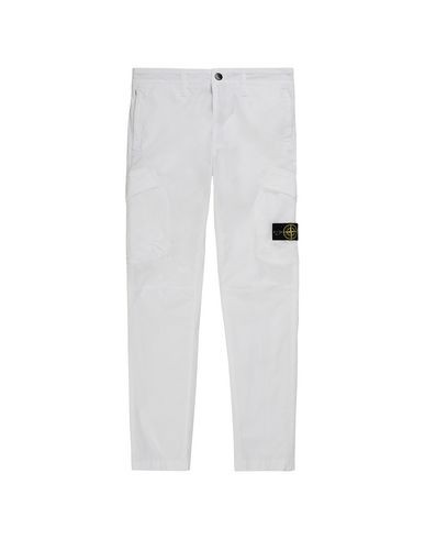 STONE ISLAND JUNIOR 30311 T.CO+OLD Trousers Man White EUR 170