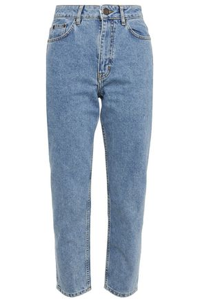 MAJE Pario cropped high-rise slim-leg jeans